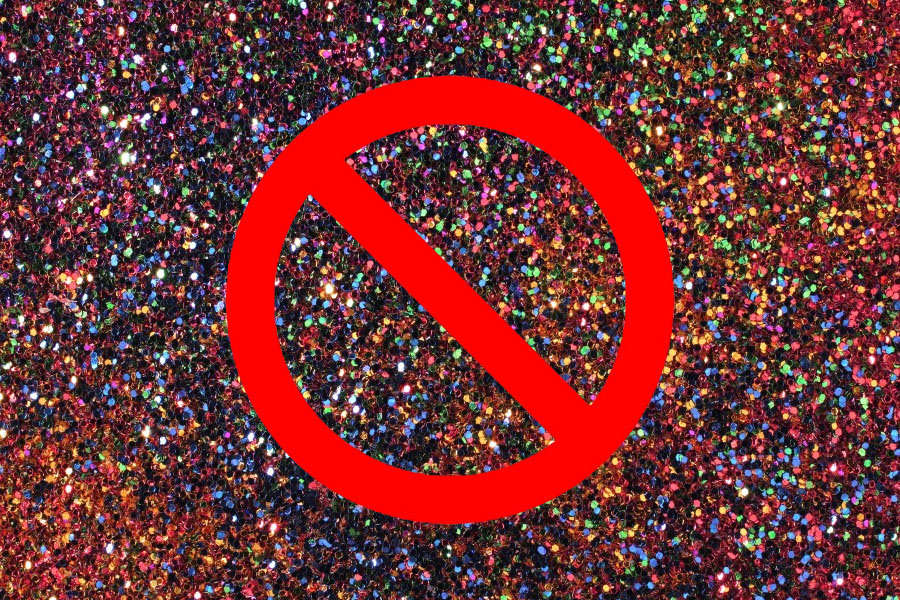 "Science says ""no glitter!"""