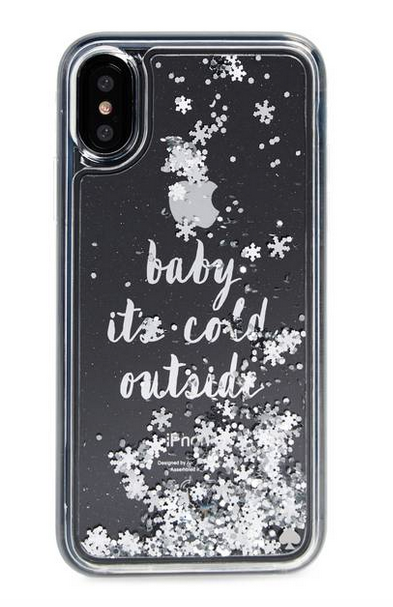 Holiday iPhone Cases: Kate Spade Baby It's Cold Outside | 2017 Holiday Tech Gift Guide