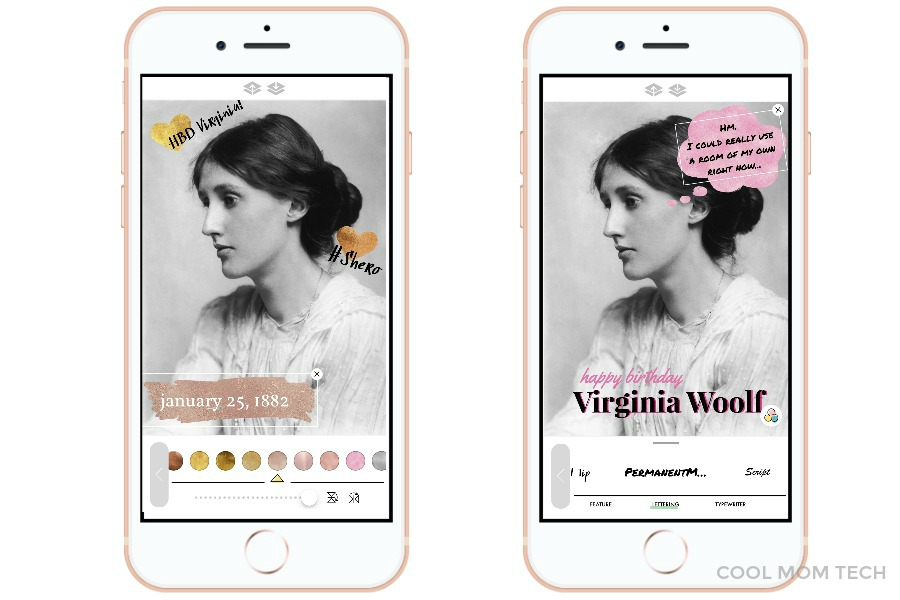 A Design Kit: the new text overlay and stickers app from A Color Story. Makes Instagram photos look amazing! | cool mom tech
