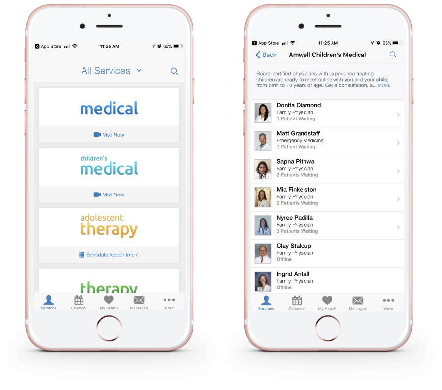Best medical apps for families: Amwell