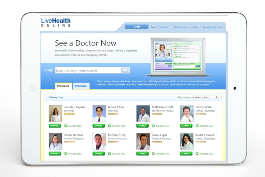 Best medical apps for families: LiveHealth Online
