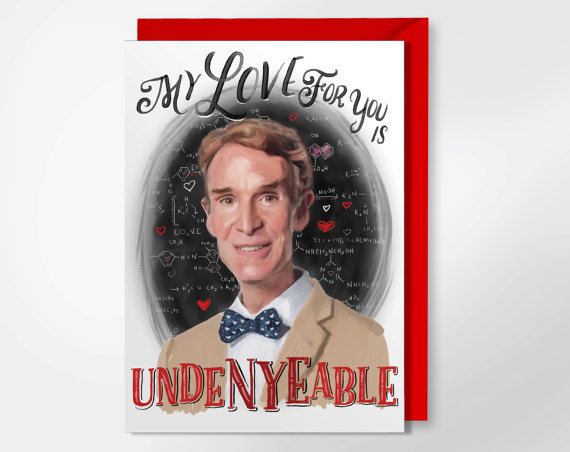 Bill Nye geeky Valentine's Day card | cool mom tech