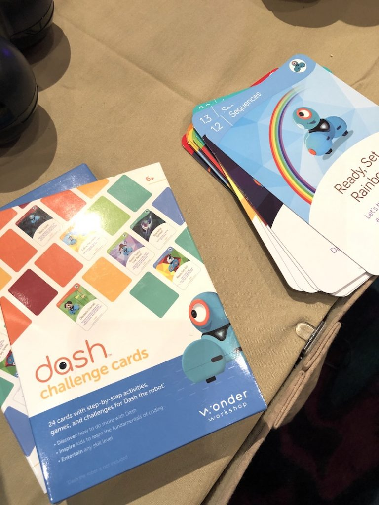 Dash Challenge Cards: Coming soon from Wonder Workshop to help kids learn coding and STEM skills | Cool Mom Tech CES 2018