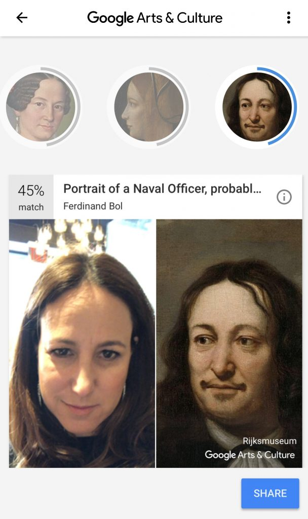 Google's Arts & Culture app compares your selfie with famous works of classical art
