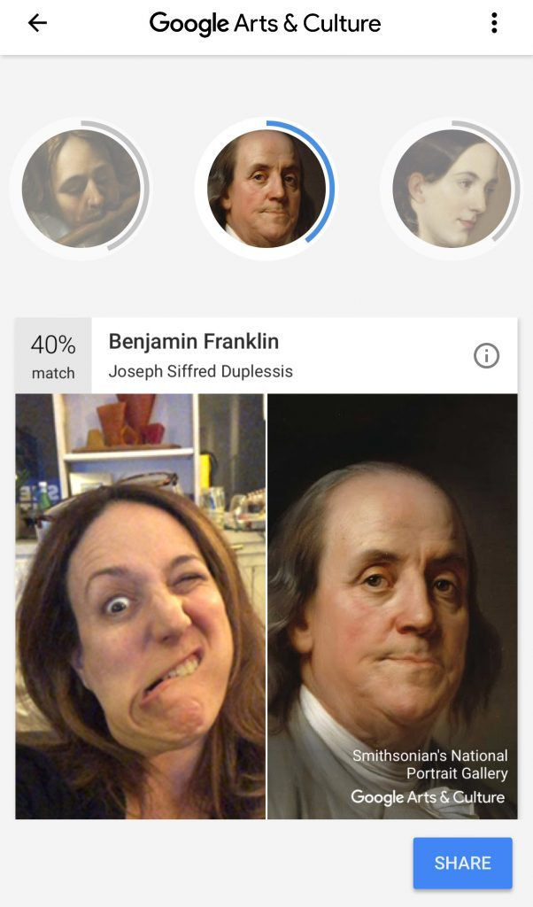 Compare your (silly) selfie with a work of art in the Google Arts & Culture app | Cool Mom Tech