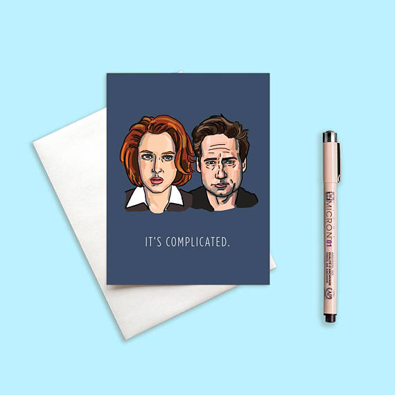 Mulder and Scully X-Files Valentine's Day Card | Cool Mom Tech