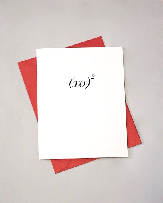 XO Squared Geeky Math Equation Valentines Day Card | Cool Mom Tech