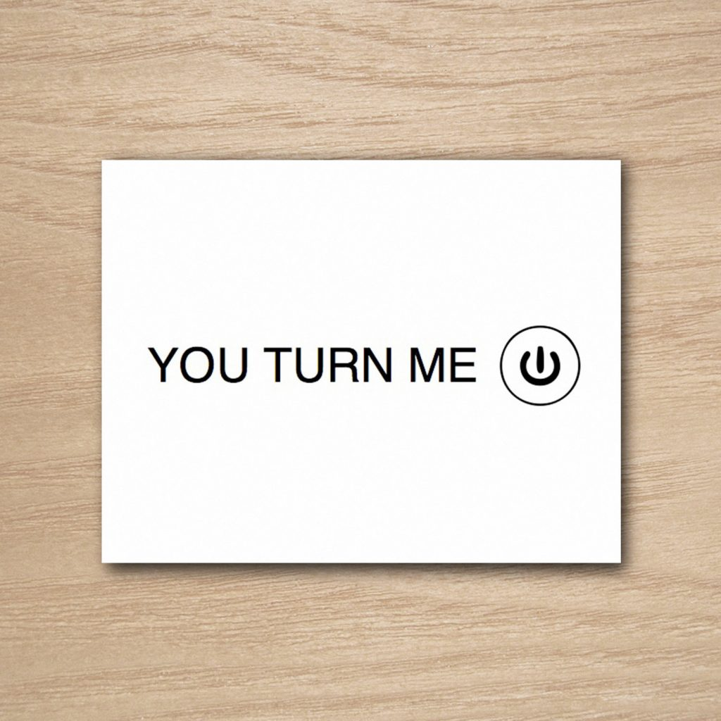 You Turn Me On Geeky Valentines Day Card | Cool Mom Tech