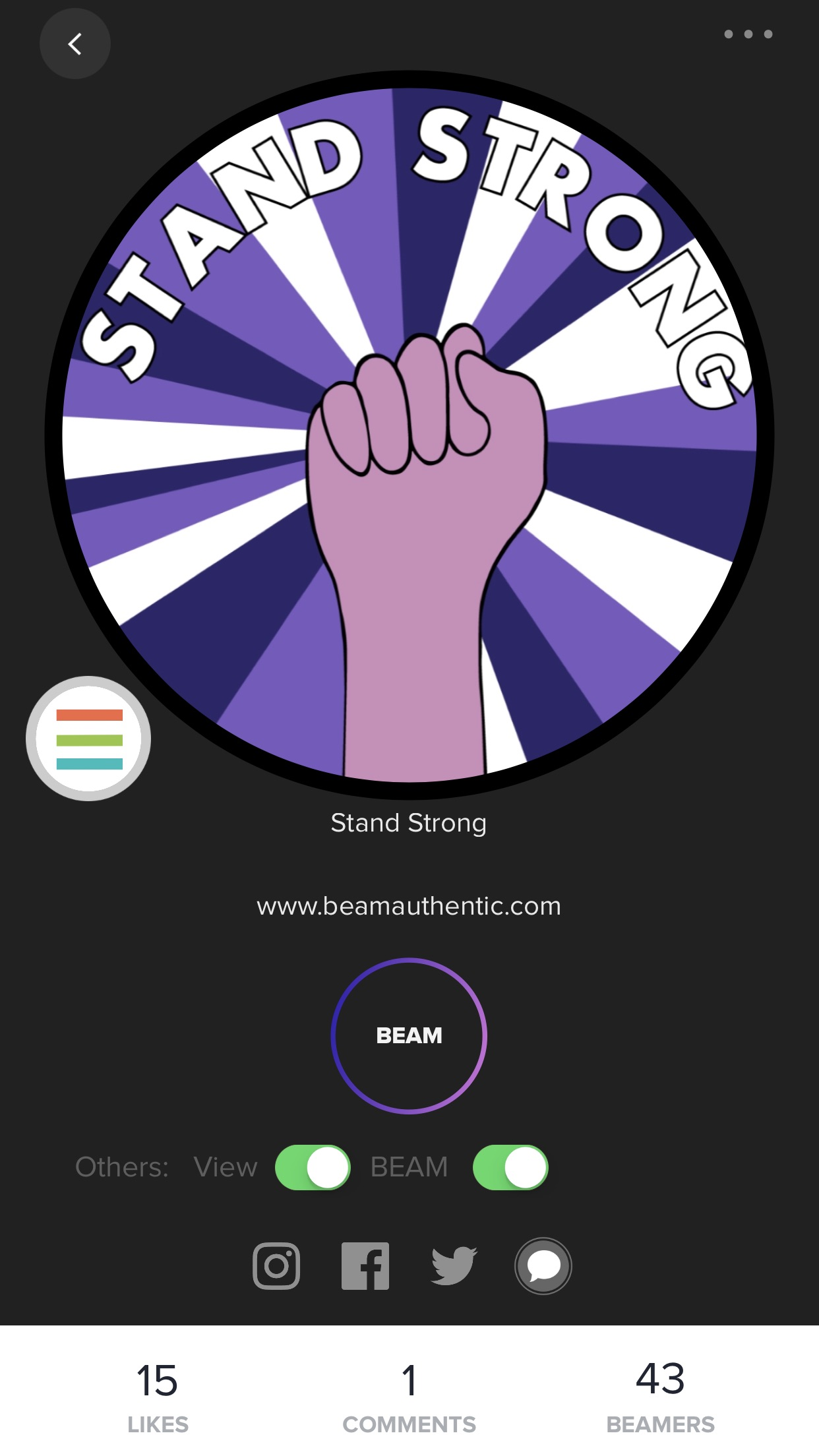 BEAM wearable tech: Choose a display image, or design your own
