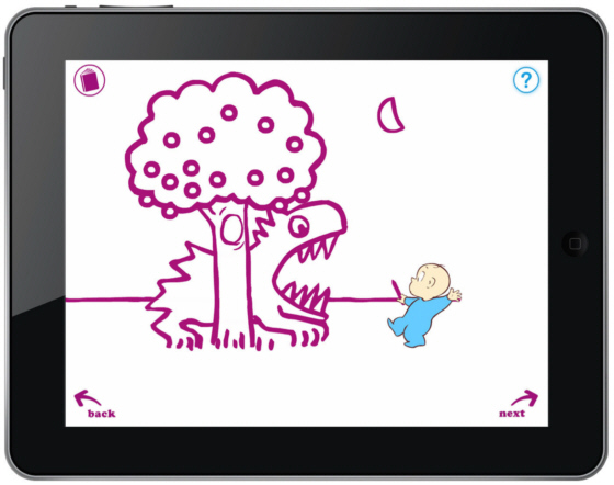 Revisiting Harold on the iPad, purple crayon optional.