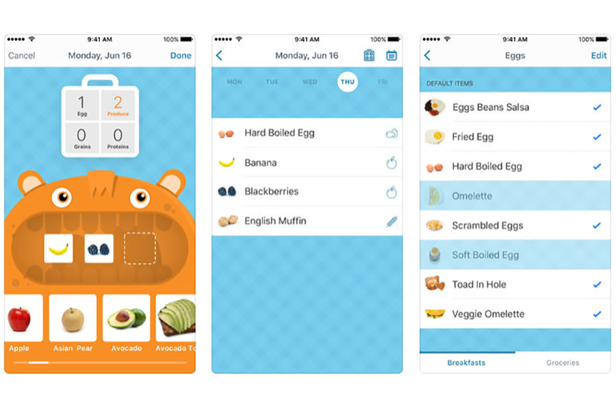 A meal planning app that puts your kids in charge of planning their own healthy breakfasts