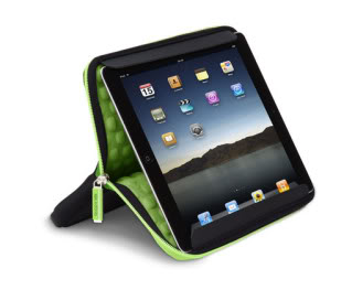 A cool iPad sleeve that converts to a sturdy stand.