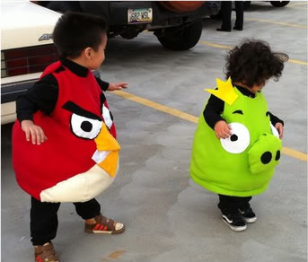 Web Coolness: Angry Birds costumes, toddler + iPhones, and a new app that really is scary