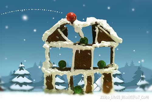 Web Coolness: Angry Birds gingerbread house, green tech, email snooping arrest.