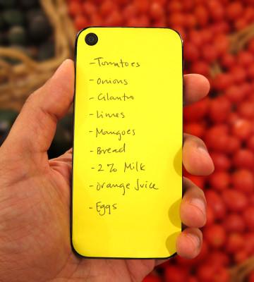 Sticky notes meet iPhone cases. Genius.