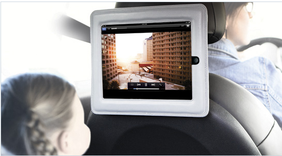 "4 iPad car mounts. a.k.a. 4 ways to avoid hearing ""are we there yet?"""