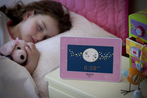 "The Zazoo kids clock. A kinder, gentler alternative to ""Go the F to Sleep"""