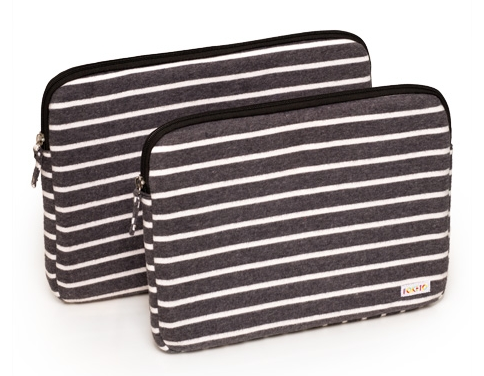 Laptops in striped fleece. All that's missing is the hoodie.