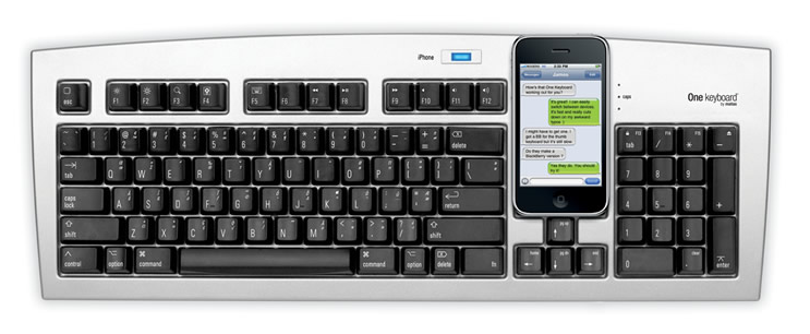 Piquing Our Geek: The computer keyboard and smartphone come together as one