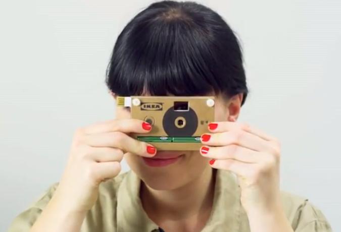 Piquing Our Geek: IKEA cardboard camera