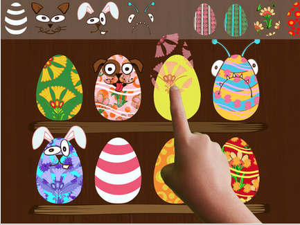 ClickySticky Easter app has a virtual basket of treats for your bunny
