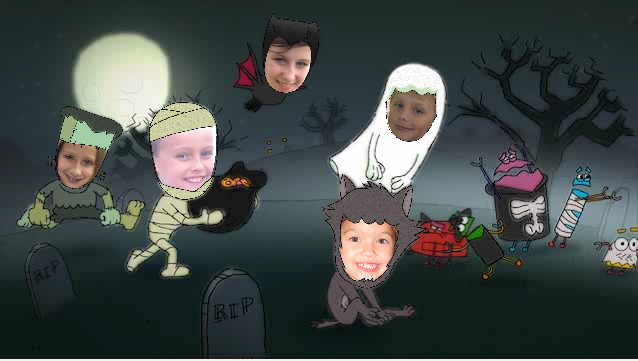 A free Halloween ecard featuring your own kids. We mean, SCARY GOBLINS.