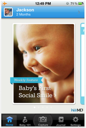 The new WebMD App – The do-everything, find-everything baby app for the new mama