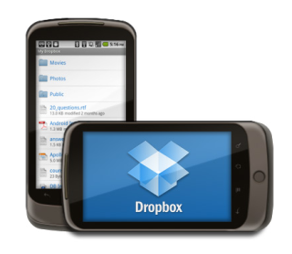 Dropbox and Android sitting in a tree