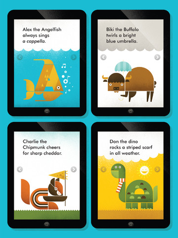 A is for amazing adorable animal alphabet app from Wee Society