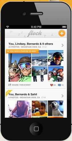 Crowdsource pictures from shared events with Flock