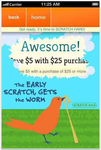 Scratch Hard: An app to help you save money shopping. And it's fun. Like shopping.