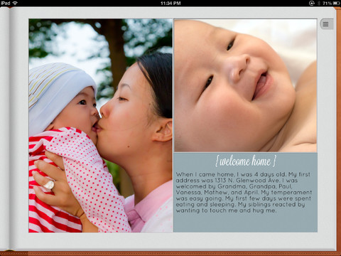 A free baby book app for those of us not so good with the baby book books