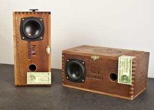 Cigar boxes filled with beautiful sound