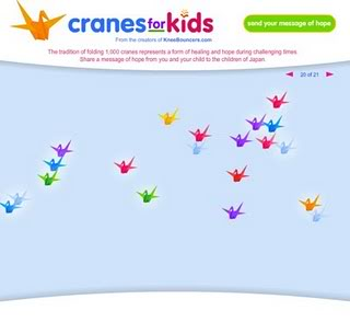 Cranes for Kids: Messages of hope for Japanese children from our own
