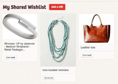 Checked Twice: A visual holiday wish list registry that keeps your whole family on the same page