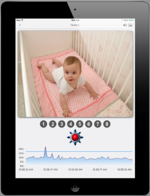 A digital baby monitor designed for your new iOS 7 device