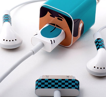 The cutest way to know whose iPhone charger is whose. Or…Whooz.
