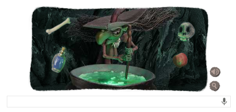 Today's Halloween Witch Google Doodle is a fun way to avoid work for 3 more minutes.
