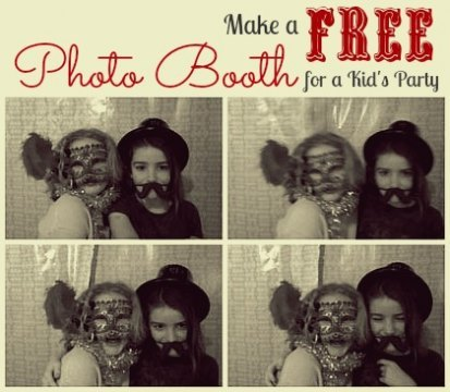 How to make a photobooth on your laptop for a kids' party.