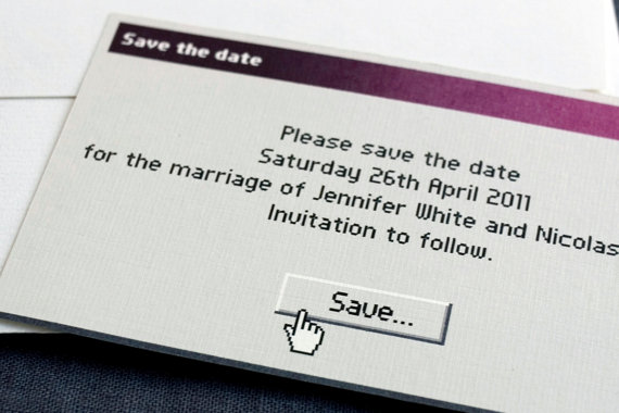 A save the date invitation with a techie twist