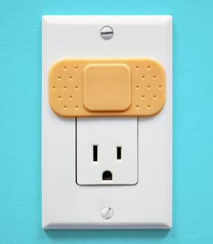 Outlet covers that help prevent boo-boos