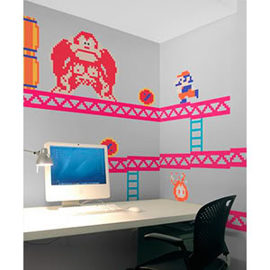 Donkey Kong wall decals have me over a barrel