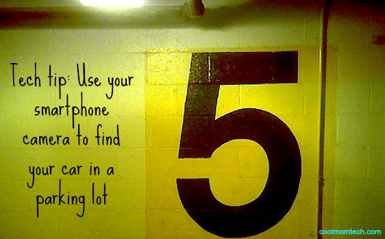 Forget where you parked your car? Use your smartphone.