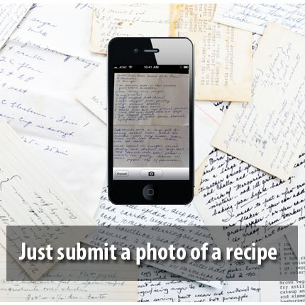 Digitize those old family hand-written recipes