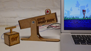 Piquing Our Geek — Angry Birds slingshot controller