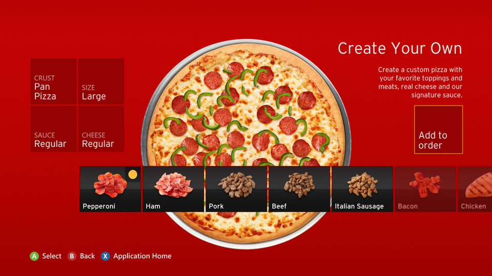Piquing our Geek: Ordering pizza from your Xbox console
