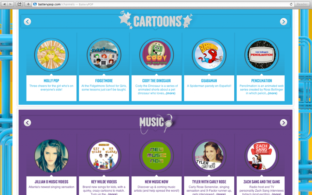 batteryPOP: A safe online entertainment network for kids that they can customize themselves.