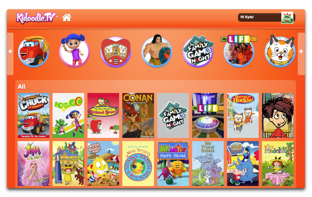 Safe YouTube alternatives for kids: Kidoodle.tv