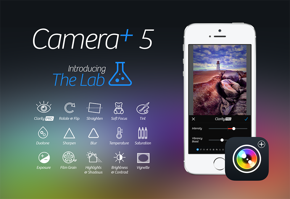 The new Camera+ App Version 5: Now even plus-ier than before.