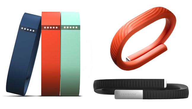 Jawbone UP24 and Fitbit Flex fitness trackers